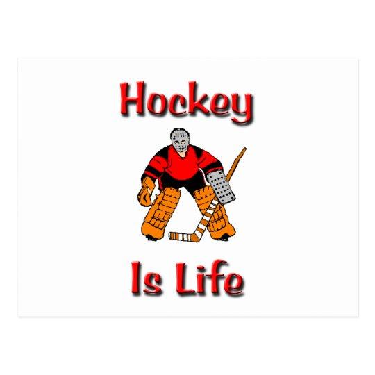 Hockey Is Life Postcard