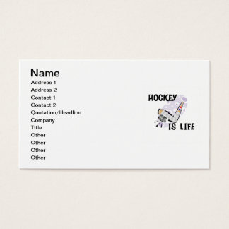 Hockey Is Life Puck and Stick T-shirts and Gifts Business Card