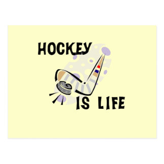 Hockey Is Life Puck and Stick T-shirts and Gifts Postcard