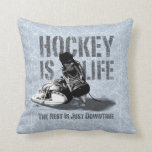 Hockey Is Life Throw Pillows