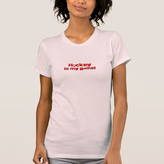 Hockey is my Game/Female Sign+Heart T-Shirt