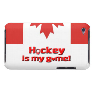 Hockey is my game!-Womens Hockey/Canada Barely There iPod Case