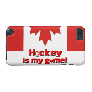 Hockey is my game!-Womens Hockey/Canadian Flag iPod Touch (5th Generation) Cover