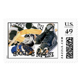 Hockey Is My Life Postage Stamp
