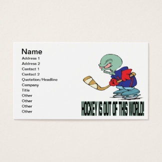 Hockey Is Out Of This World Business Card