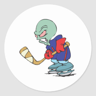 Hockey Is Out Of This World Classic Round Sticker