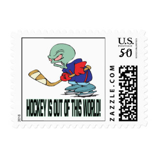 Hockey Is Out Of This World Postage