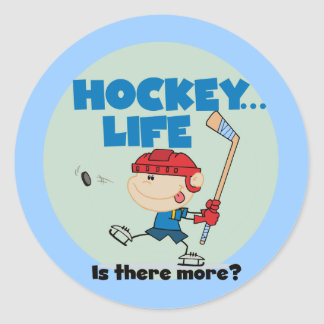 Hockey is There More T-shirts and Gifts Classic Round Sticker