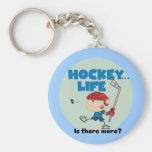 Hockey is There More T-shirts and Gifts Keychain