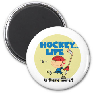 Hockey is There More T-shirts and Gifts Fridge Magnets