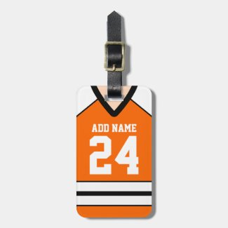 Hockey Jersey Custom Name/Number Bag Tag