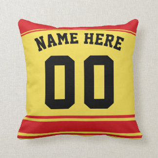 Hockey Jersey Custom Name & Number Template Pillow