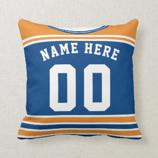Hockey Jersey Name & Number Template Custom Pillow