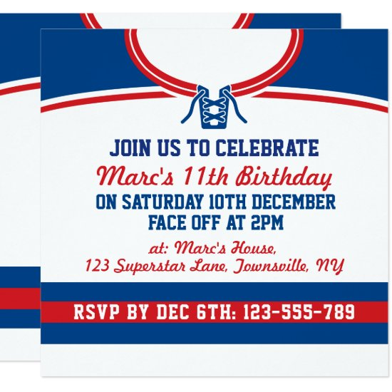 Hockey Jersey Themed Party Invites Template
