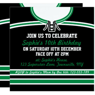 Hockey Birthday Invitations Announcements Zazzle
