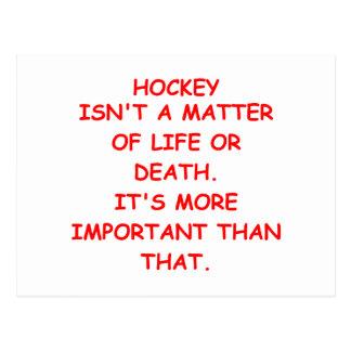 hockey joke postcard
