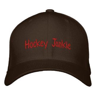 Hockey Junkie Embroidered Baseball Hat
