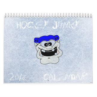 HOCKEY JUNKY 2016 Two Page Calendar, Medium Calendar