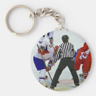 hockey keychain