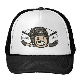 Hockey Kid Black Hats