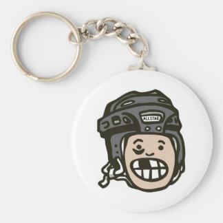 Hockey Kid Black Key Chains