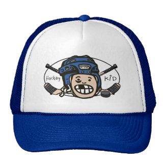 Hockey Kid Blue Mesh Hat