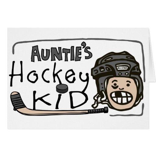 Hockey Kid de tía Felicitacion
