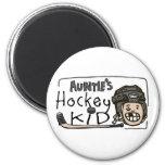 Hockey Kid de tía Imanes De Nevera