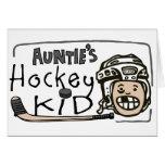 Hockey Kid de tía Tarjetas