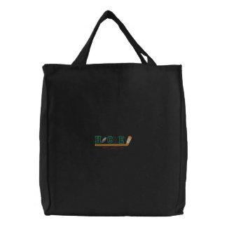 Hockey Kid Embroidered Tote Bag