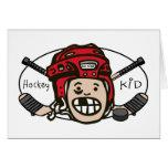Hockey Kid Red Greeting Card
