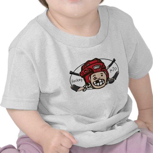 Hockey Kid Red T-shirts