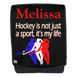HOCKEY LIFE PATRIOTIC PERSONALIZED BACK PACK