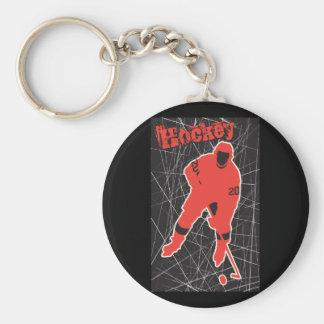 Hockey Llavero Redondo Tipo Pin