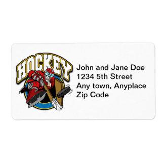Hockey Logo Shipping Label