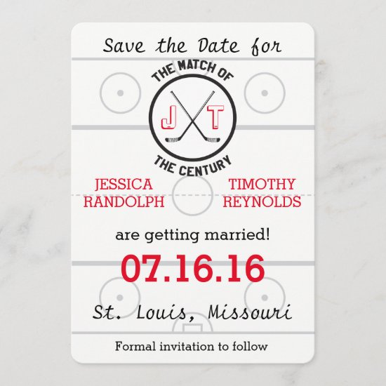 Hockey Love Save the Date