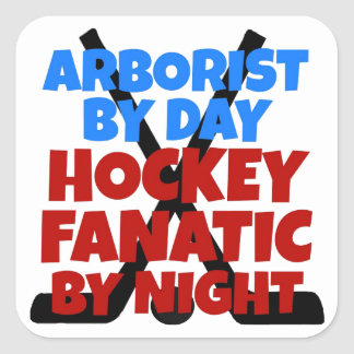 Hockey Lover Arborist Square Sticker