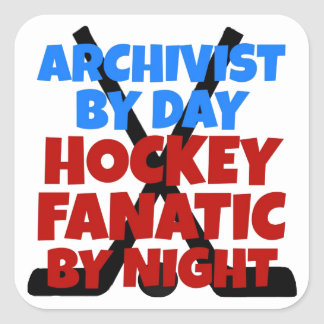 Hockey Lover Archivist Square Sticker