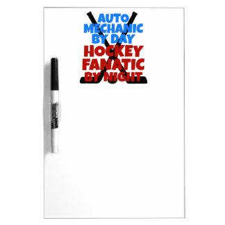 Hockey Lover Auto Mechanic Dry-Erase Board