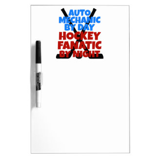 Hockey Lover Auto Mechanic Dry-Erase Boards