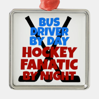 Hockey Lover Bus Driver Ornaments