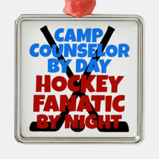 Hockey Lover Camp Counselor Metal Ornament