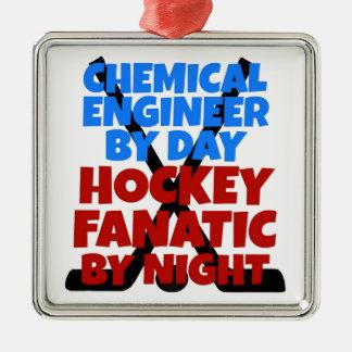 Hockey Lover Chemical Engineer Metal Ornament