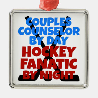 Hockey Lover Couples Counselor Christmas Ornaments
