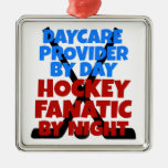 Hockey Lover Daycare Provider Metal Ornament