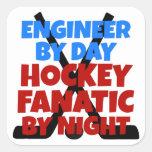 Hockey Lover Engineer Square Sticker