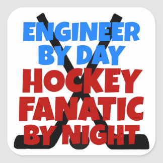 Hockey Lover Engineer Square Sticker