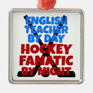 Hockey Lover English Teacher Metal Ornament