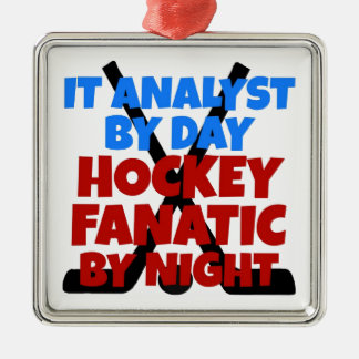 Hockey Lover IT Analyst Christmas Ornament
