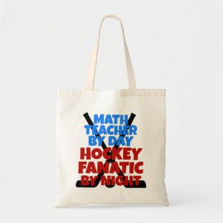 Hockey Lover Math Teacher Tote Bag